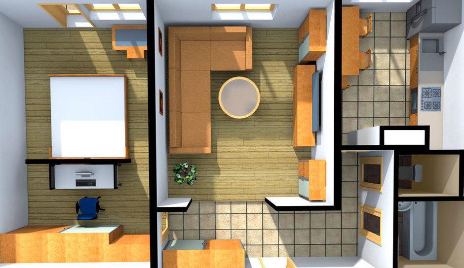 Перепланировка двухкомнатной квартиры: советы дизайнера