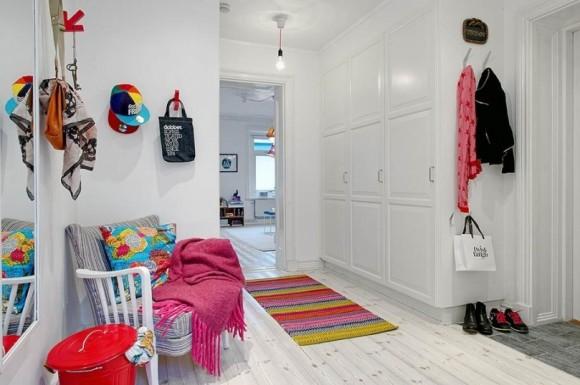 Интерьер комнаты в шведском стиле