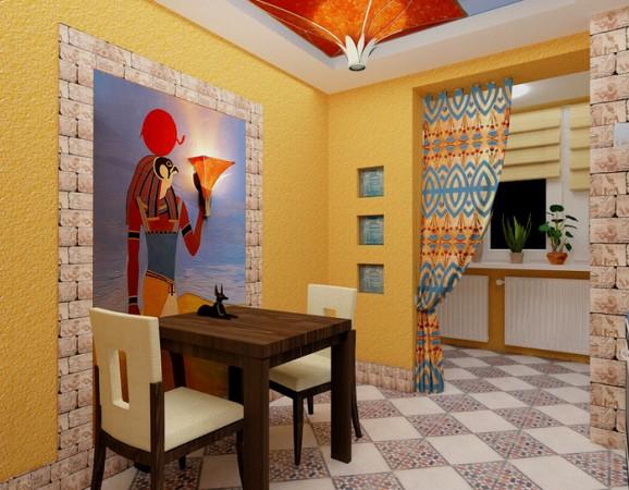 Оформление комнаты в египетском стиле