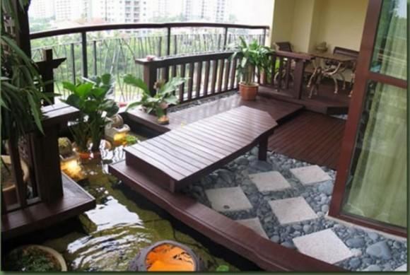 Дизайн для большого балкона