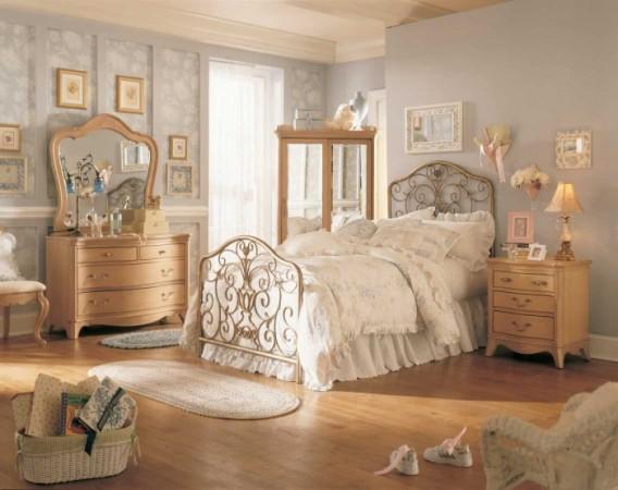 Винтажный стиль в спальне