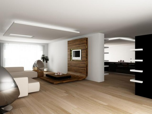 Дизайн гостиной с стиле хай-тек
