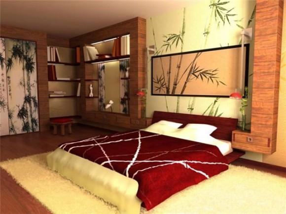 Китайский стиль в спальне