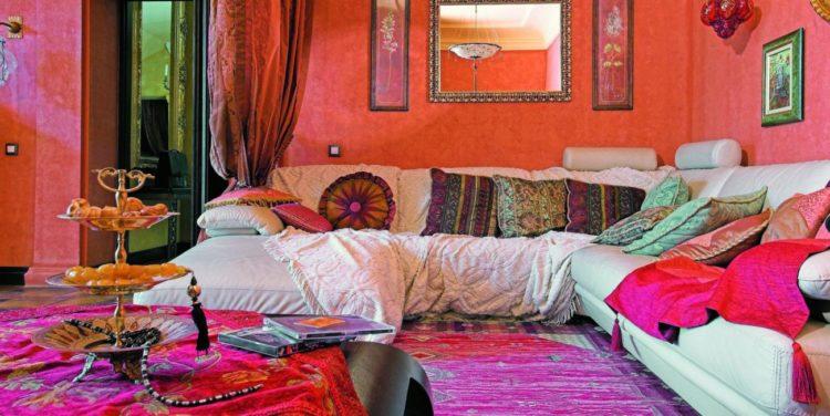 Марокканский стиль в гостиной