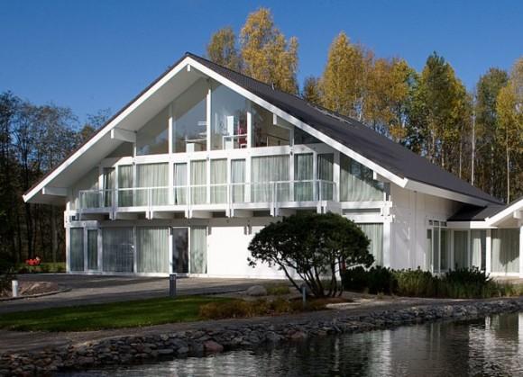 Новый дом в стиле фахверк