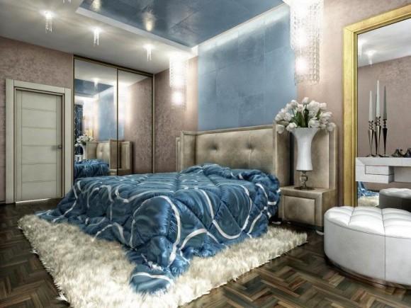 Освещение в спальной комнате
