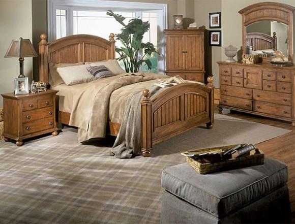 Спальная комната в стиле кантри