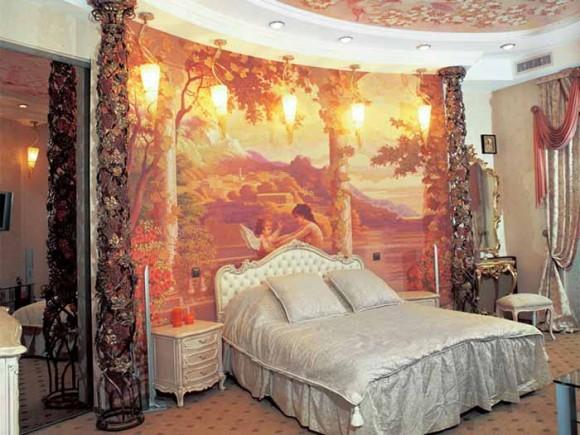 Спальная комната в стиле рококо
