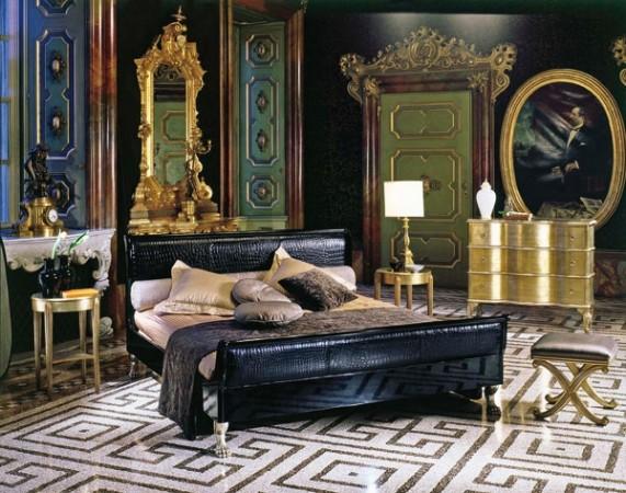 Спальная комната в стиле эклектика