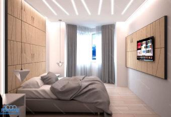 Дизайн-проект квартиры 84 м<sup>2</sup> Речной вокзал