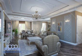 Дизайн-проект коттеджа 210 м<sup>2</sup> город Серпухов