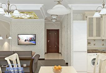 Дизайн-проект квартиры 38 м<sup>2</sup>  на улице Гастелло