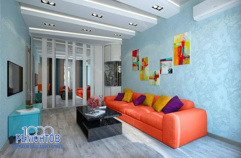 Дизайн-проект квартиры 78 м2 на Волоколамском шоссе