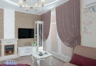 Дизайн-проект квартиры 70 м<sup>2</sup> ЖК Оранж парк