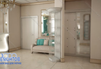 Дизайн-проект салона красоты 68 м<sup>2</sup> улица Чертановская