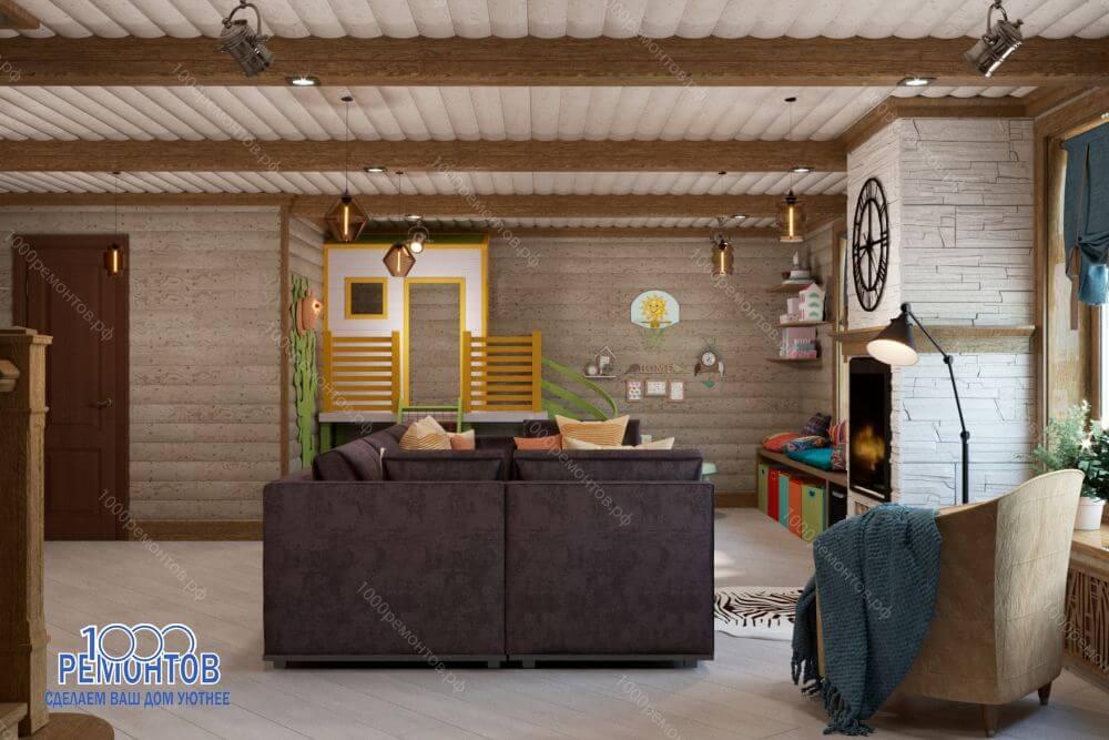 Дизайн-проект коттеджа 210 м<sup>2</sup> в КП Цветочный