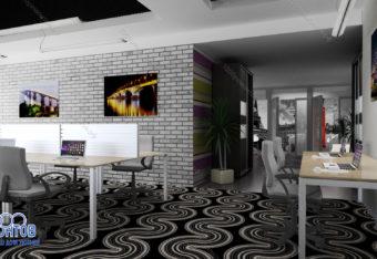 Дизайн-проект офиса 170 м<sup>2</sup>  БЦ Барклай плаза
