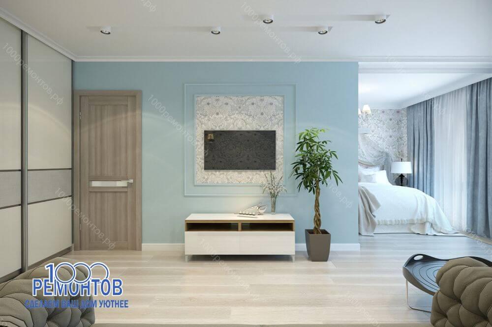Дизайн-проект квартиры 72 м<sup>2</sup>  ЖК Акварель