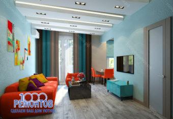 Дизайн-проект квартиры 90 м<sup>2</sup> на Волоколамском шоссе