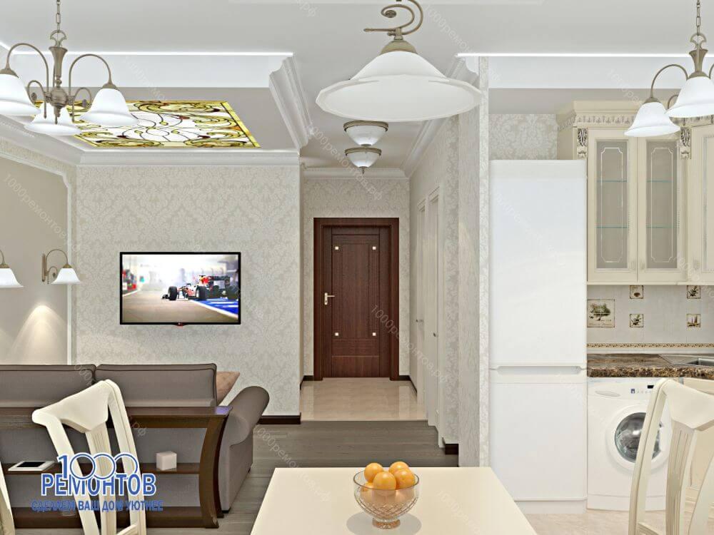 Дизайн-проект квартиры 38 м<sup>2</sup> на улице Гостелло